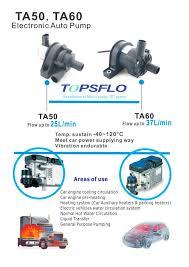circulating pump for water heater ta50 ta60 electric car water circulation pump topsflo industry