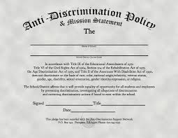 anti discrimination policy u0026 mission statement the freethought