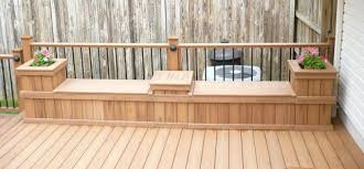Deck Planters And Benches - composite deck with matching rails bench and planters decks r