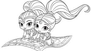 shimmer shine coloring pages coloring