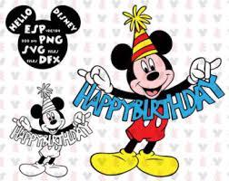 mickey mouse birthday svg etsy