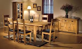 solid oak dining room table and 6 chairs furniture set ebay used
