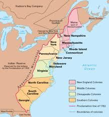 colonial map map of colonial america my