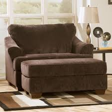 brown chair and ottoman furniture oversized reading chair in dark brown fabric with