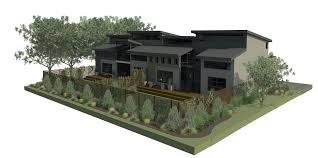 modern hacienda style guest house concrete homes imanada simple