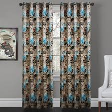 Blackout Curtains Grommet Iyuego Contemporary Vintage Floral Clusters Grommet Top Lined