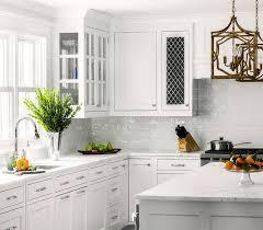 glazed shaker kitchen cabinet doors white kitchen with white glazed subway backsplash tiles
