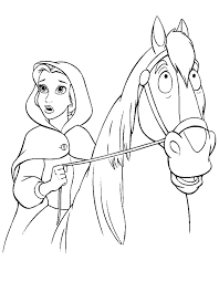 belle coloring book