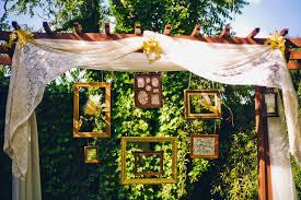 wedding backdrop frame flowerchild garden wedding ruffled