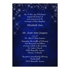 formal wedding invitation blue starry formal wedding invitation zazzle