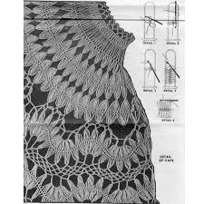 hairpin crochet hairpin lace cape crochet pattern wheeler 717