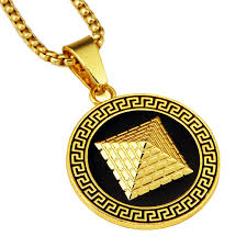 aliexpress buy nyuk mens 39 hip hop jewelry iced out nyuki fashion gold silver color pyramid pendant with