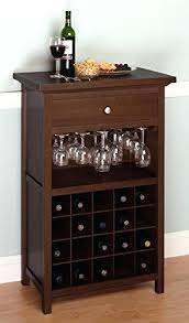 rustic wood wine caddy wooden wine bottle and glasses holder