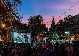 santana row annual tree lighting ceremony san josé theatre