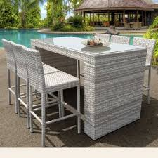 patio table with removable tiles outdoor bar sets modern contemporary designs allmodern