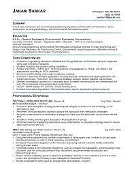 Chemical Engineer Resume Template Chemical Environmental Engineer Resume Sample Vinodomia