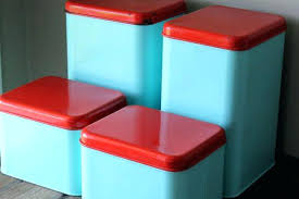 retro canisters kitchen turquoise kitchen canisters metal canister set vintage blue