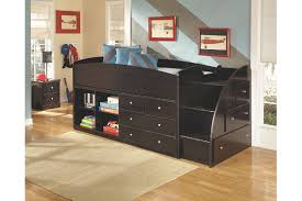 embrace twin loft bed with right steps ashley furniture homestore