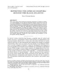 zeleza rewriting the african diaspora beyond the black atlantic