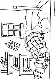 dessin chambre enfant coloriage coloriage de la chambre de mr sale