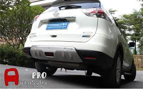 steel front rear bumper protector skid plate for nissan rogue x