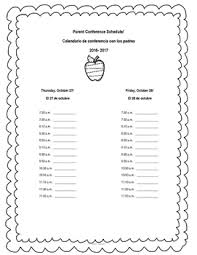 editable parent conference sign up sheet in spanish and english tpt