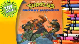 teenage mutant ninja turtles mutant madness vintage coloring