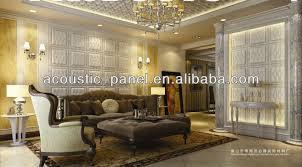 Decorative Acoustic Panels Soundproof Decorative Ceiling Tiles 3d Polyurethane Diffuser Wall