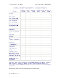 Budgeting Worksheets For Students 8 Budget Worksheet Memo Templates