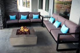 patio fire table the latest in outdoor patio dining furniture