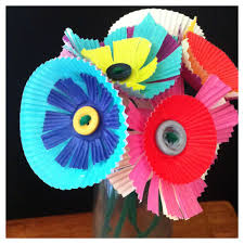 a childhood list 118 baking cup paper flowers