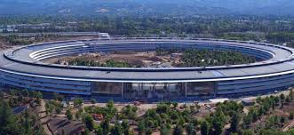 spaceship campus apple latest flyover footage offers look at apple park cafe as finishing