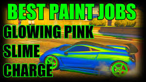 gta 5 online secret car colors slime glowing pink charge