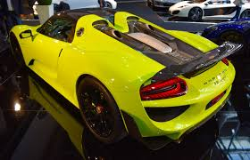 porsche spyder yellow dubai dealer lists rare acid green porsche 918 spyder