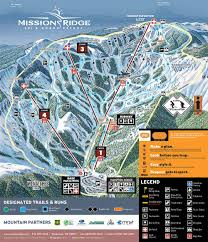 Wenatchee Washington Map by Trail Map Mission Ridge Ski U0026 Board Resort