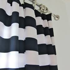 Home Decorating Magazines by Decorating Black And White Horizontal Striped Curtains With Blue