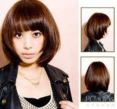 mid lenth beveled haircuts cute layered shoulder length bob cut with a beveled edge and