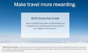 choosing your amex platinum 200 airline fee credit