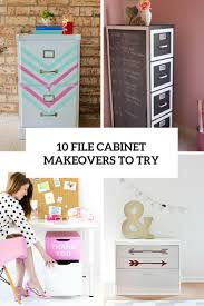 Diy Desk With File Cabinets by 10 Awesome Diy File Cabinet Makeovers To Try Shelterness