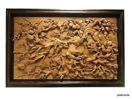 wood sculpture decor sculpture wall decor large wall carved relief wood