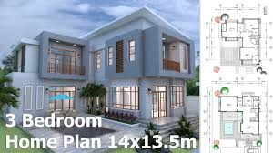 modern home plan sketchup modern home plan 14x13 5m