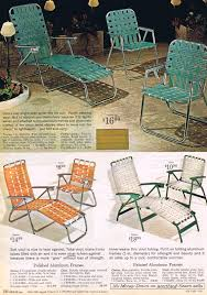 Lightweight Aluminum Webbed Folding Lawn Chairs Old Lawn Furniture The Mid Century Mail Order Home