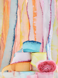 crepe paper streamers dip dye crepe paper streamers a subtle revelry