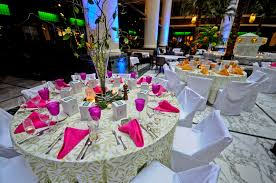 hawaiian themed wedding tropical wedding reception theme idea reception tables