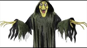hanging witch animated halloween prop lifesize 6 ft haunted house