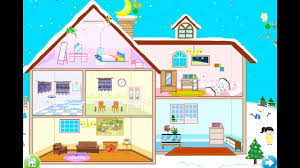 fun care makeover house winter doll house decoration games for
