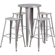 silver metal bar table 24 round silver metal bar set products pinterest silver metal