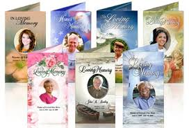 Free Funeral Programs In Loving Memory Cards Funeral Program Template