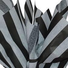 black white stripe patterned tissue paper