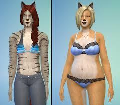 mod the sims fur skin overlay